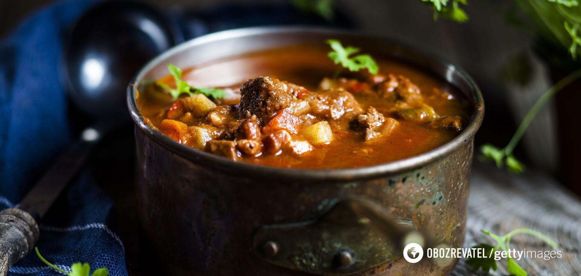 Наваристый мясной суп – шурпа