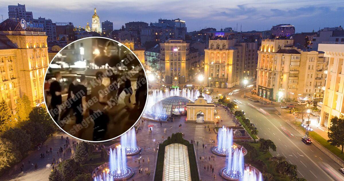 В центре Киева произошла массовая драка с участием иностранцев. Видео