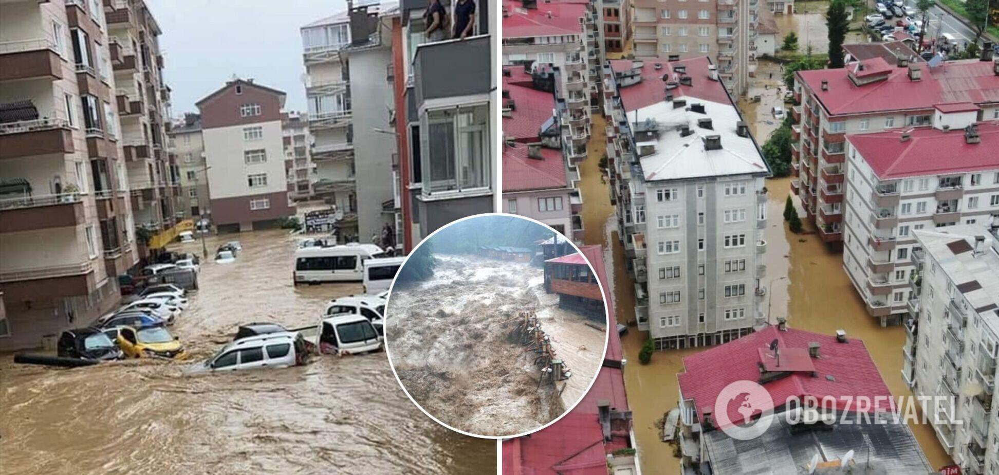 Безперервні зливи в Туреччині спричинили повінь на чорноморському узбережжі. Фото та відео