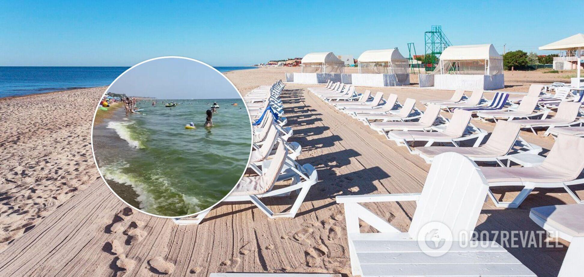 Туристы в Грибовке пожаловались на зеленое море