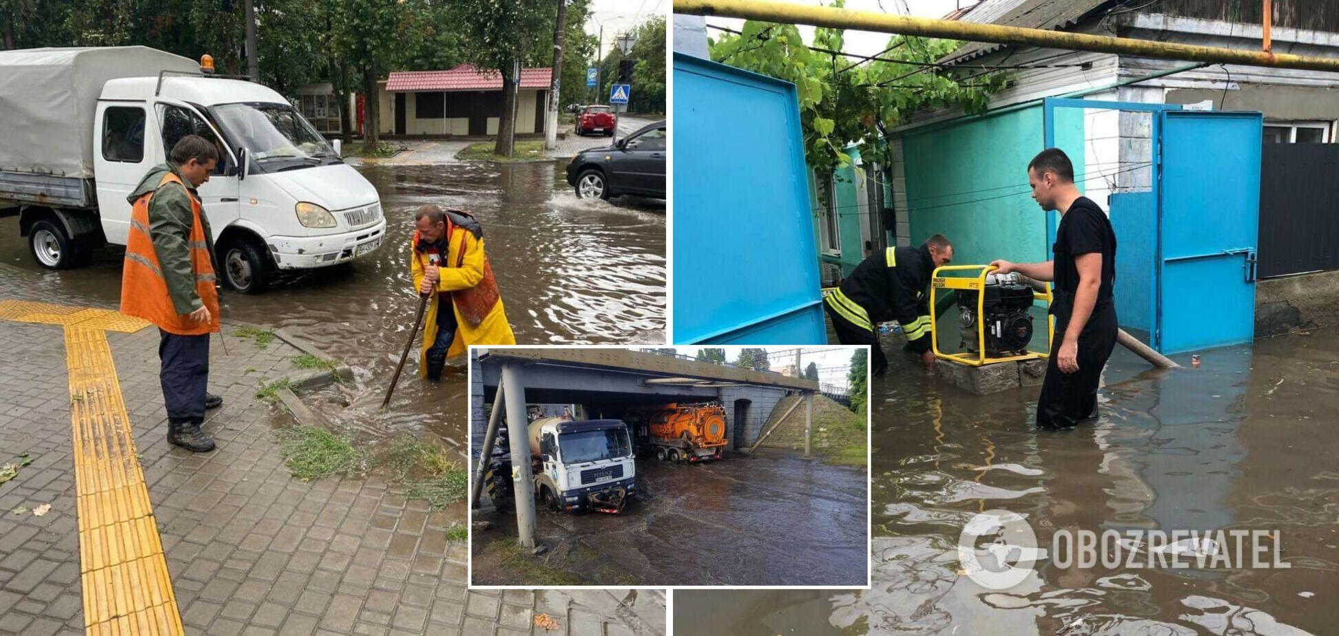 Одесса оказалась на грани катастрофы из-за мощного ливня, потоп мог разрушить дамбу. Фото и видео