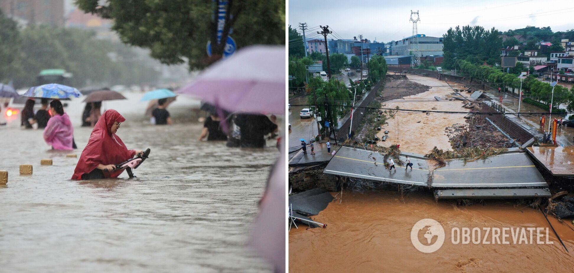 У Китаї внаслідок повені загинули 33 особи, ураган в Індонезії забрав 24 життя. Фото і відео