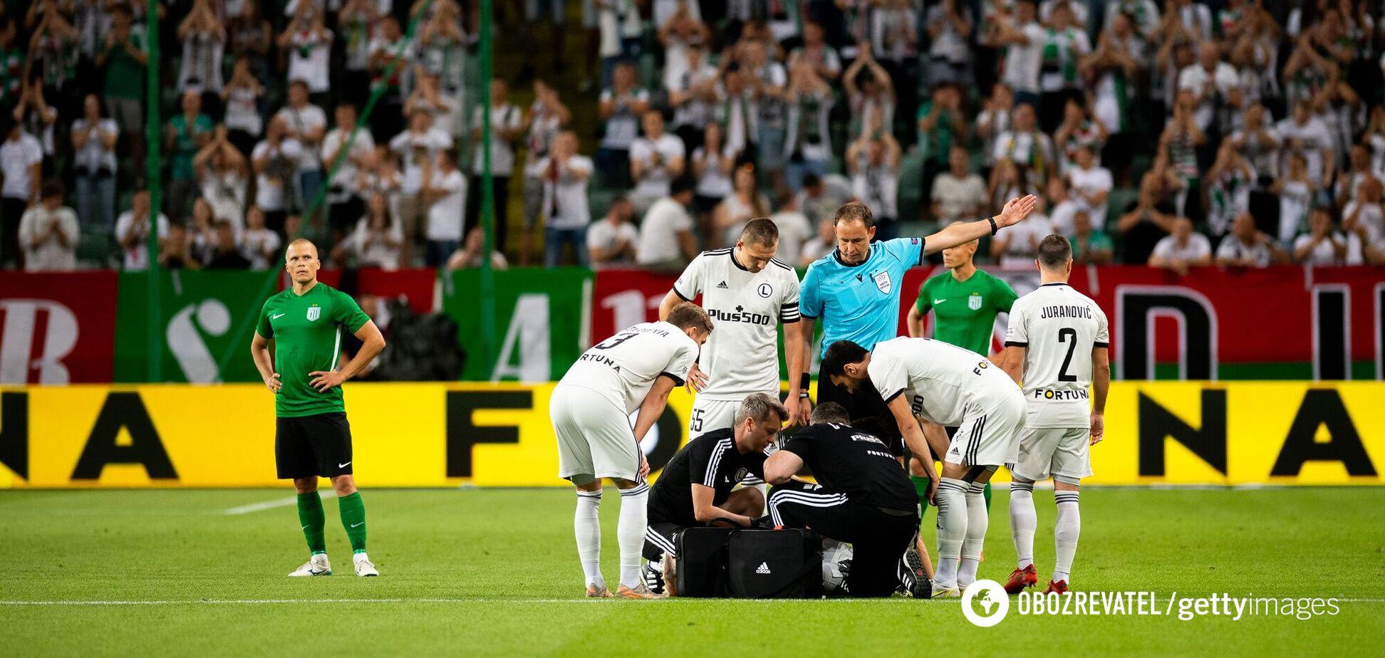 Капустка травмировался в матче с Флорой и не смог продолжить игру