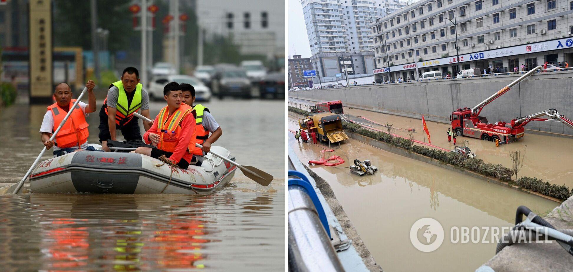Кількість жертв повені в Китаї зросла до 51 особи, до узбережжя наближається тайфун. Відео