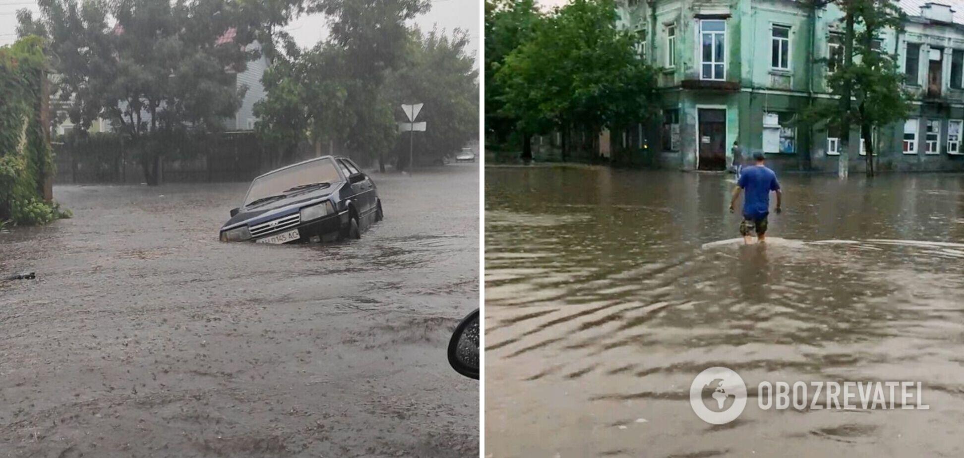 У затопленому Бердянську внаслідок обриву електропроводів загинуло двоє осіб. Відео