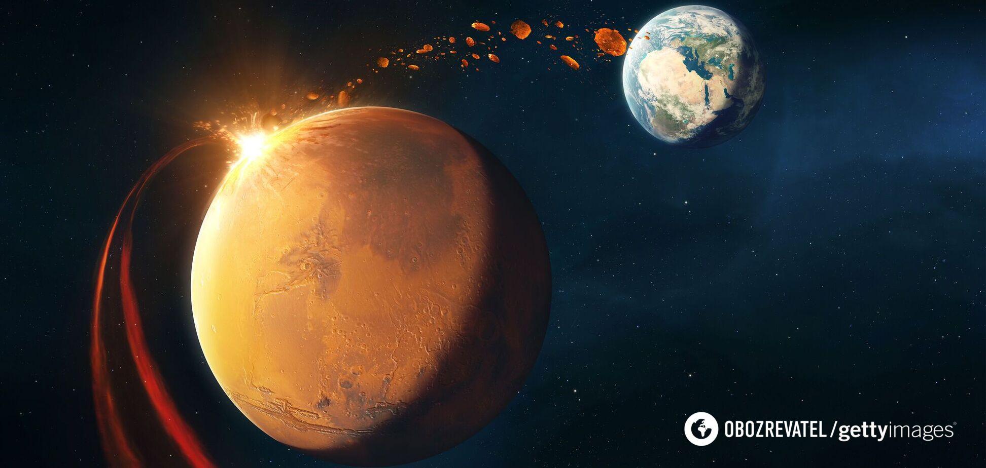 Толщина марсианской оболочки составляет около 39 км