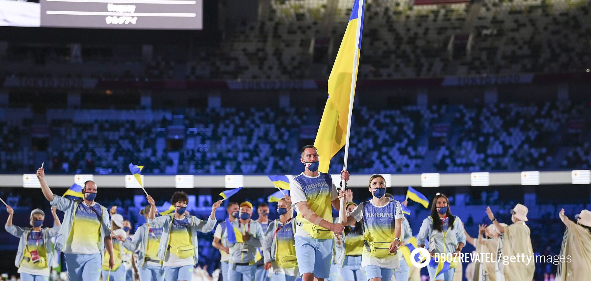 Українські спортсмени на відкритті ОІ в Токіо