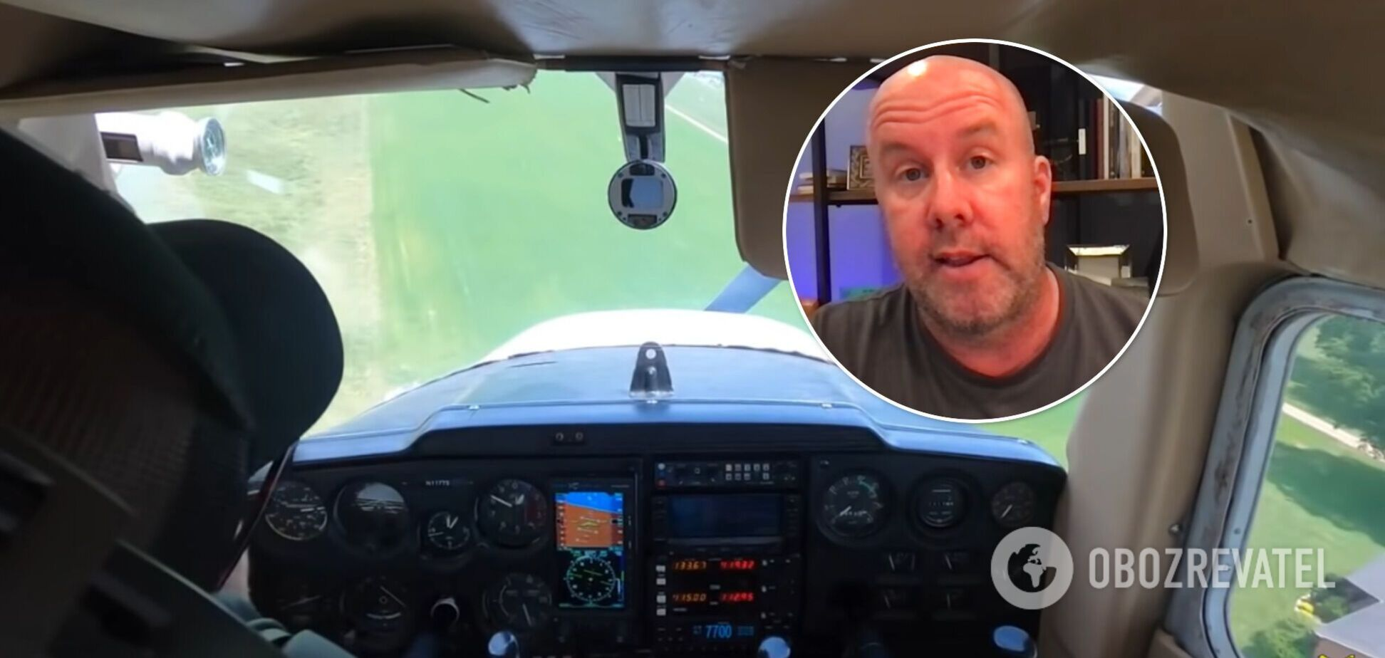 Пилот-новичок посадил самолет, у которого отказал двигатель, и снял все на видео