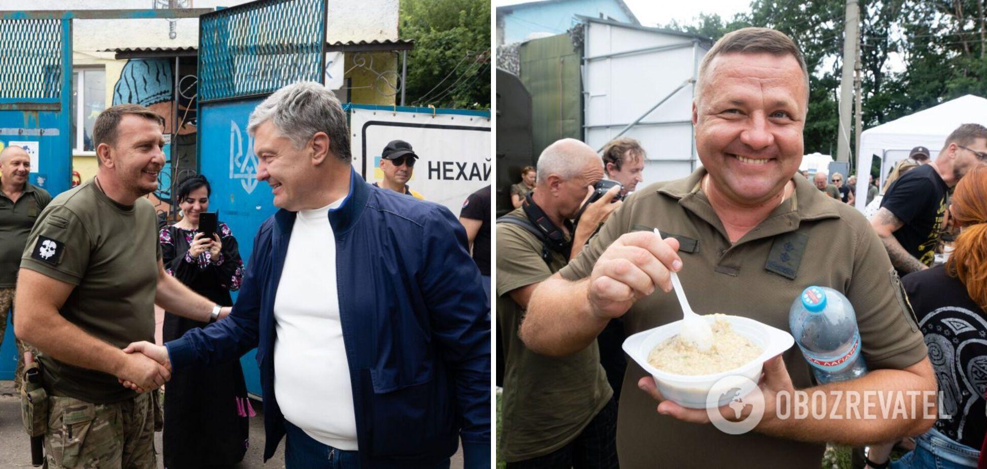 Порошенко побывал на традиционном патриотическом кулеше на Донбассе. Фото