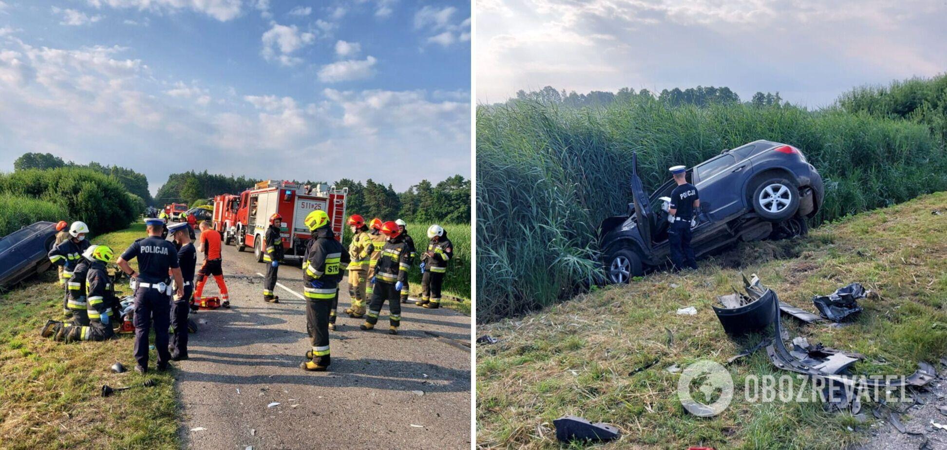 В Польше пьяная водитель врезалась в автобус с украинцами, есть погибший. Фото