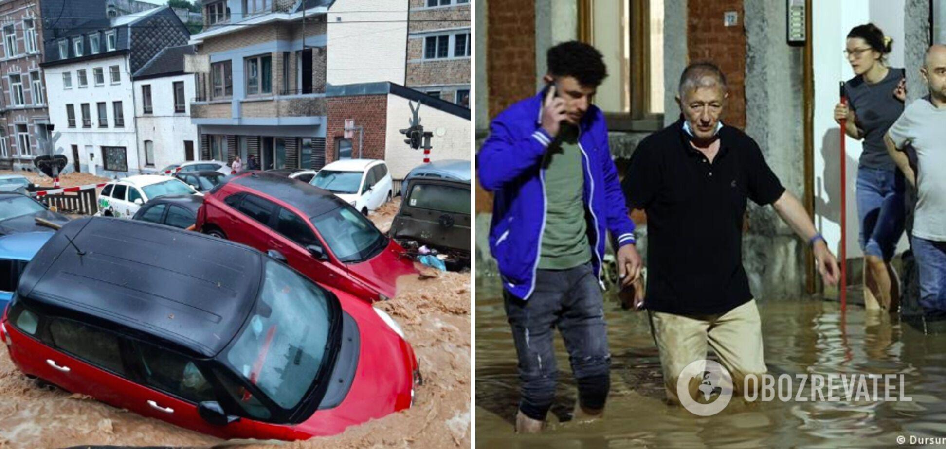 Бельгия вновь оказалась под водой из-за сильных дождей: потоки несли авто по улицам. Фото, видео