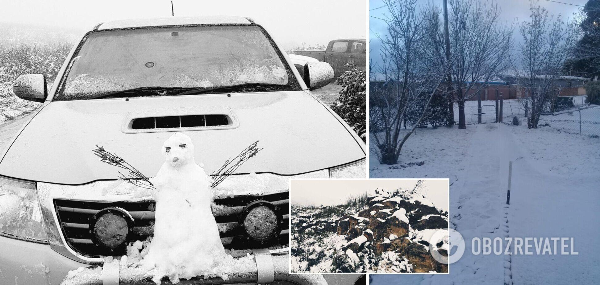 У Південній Африці випав сніг: побито багаторічні рекорди температур. Фото та відео