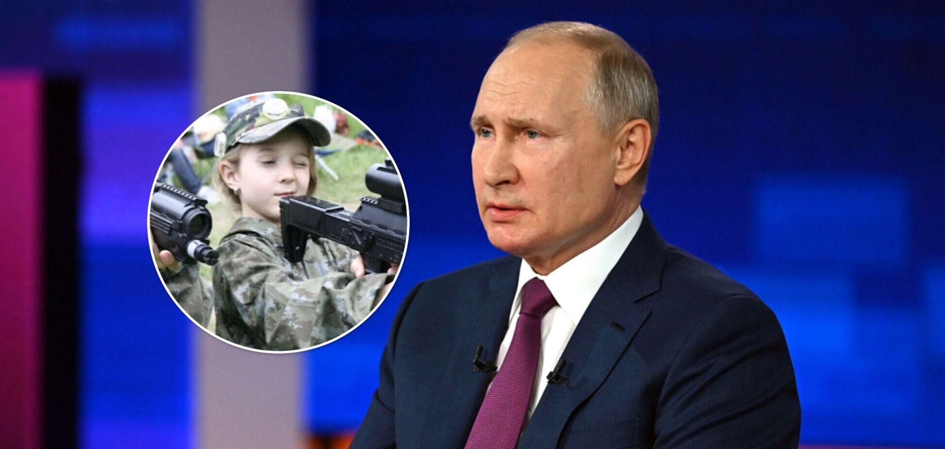 Офицер ВСУ показал, как в Крыму детей готовят в 'боевые отряды Путина'. Видео
