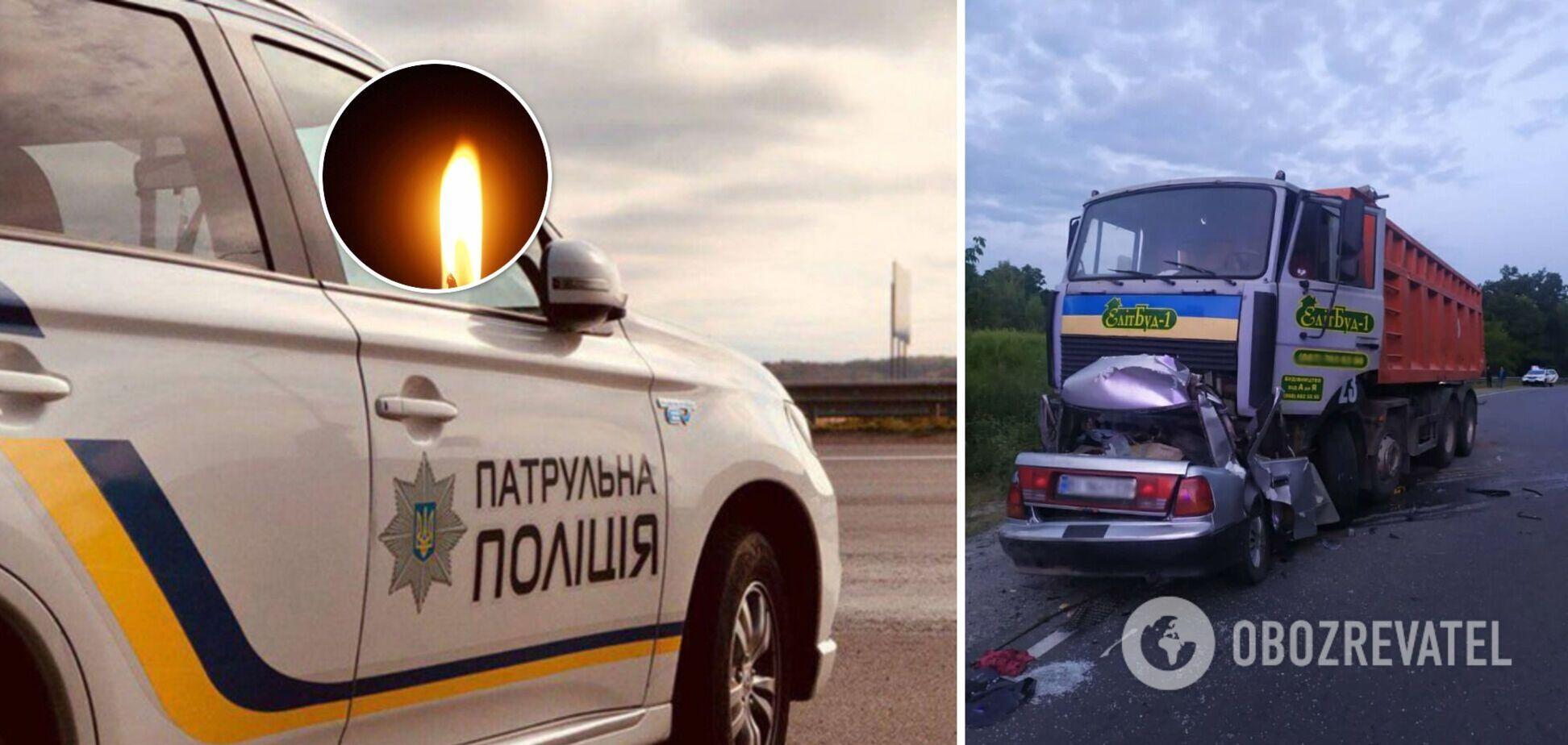 На Полтавщині автомобіль в'їхав під вантажівку: загинули 4 людини