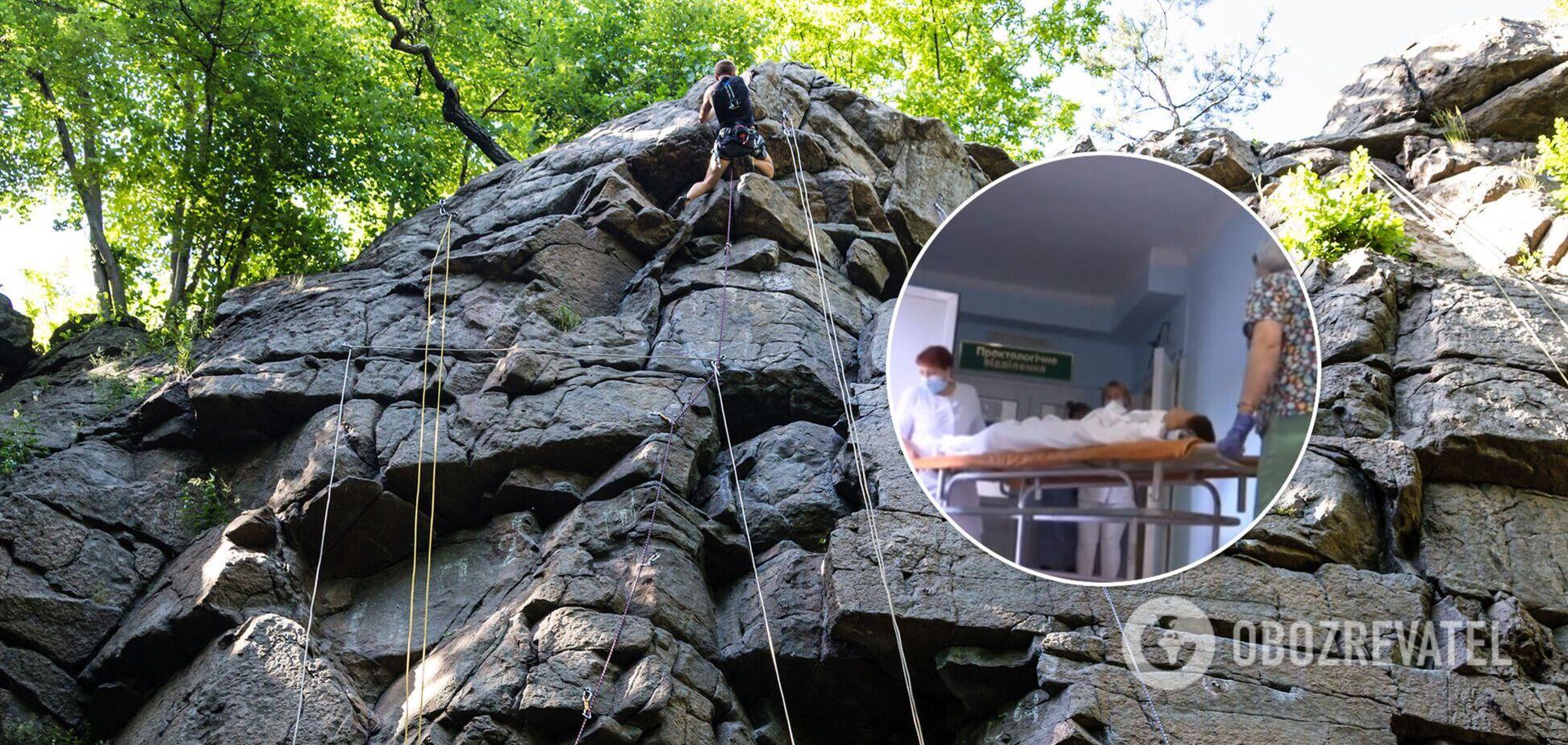 На Житомирщине подросток сорвался с 10-метровой высоты и упал на скалу