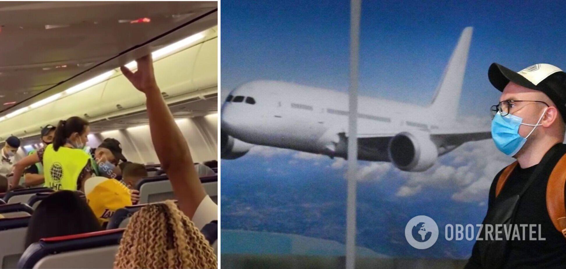Чоловік відмовився надіти маску в літаку рейсу Одеса-Анталія і поплатився. Відео