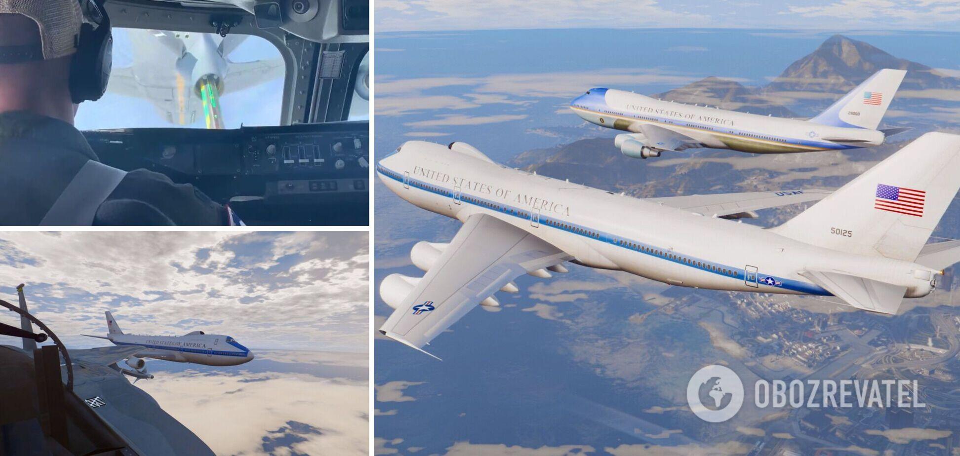 В США показали дозаправку 'самолета судного дня': предназначен для эвакуации высшего руководства. Видео