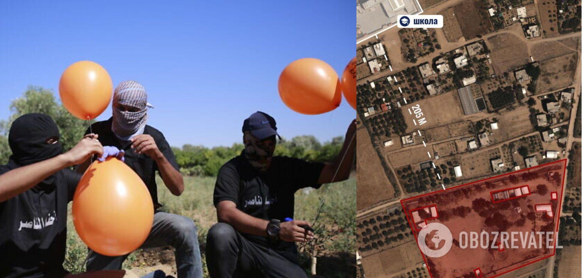 ХАМАС запустил шары со взрывчаткой на территорию Израиля
