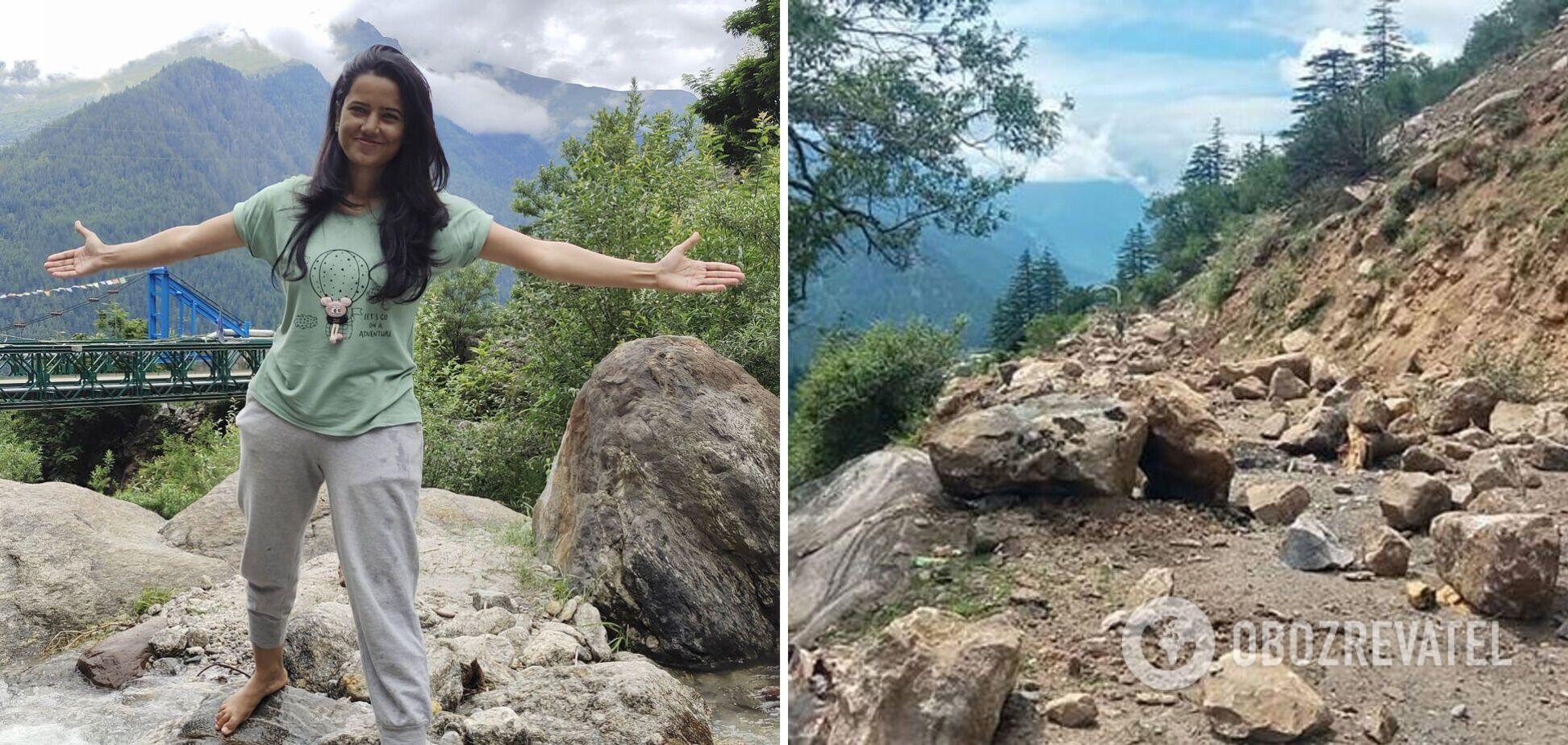 Дівчина, загибла під час каменепаду в Індії, напередодні трагедії захоплювалася красою гір. Фото