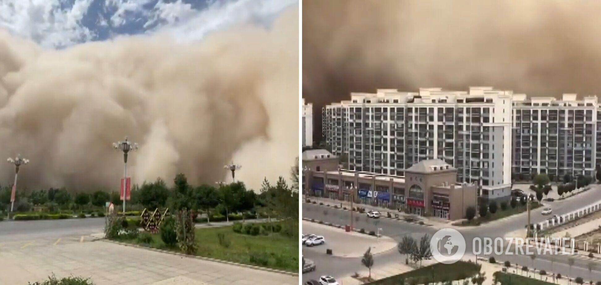 Китай накрила піщана буря