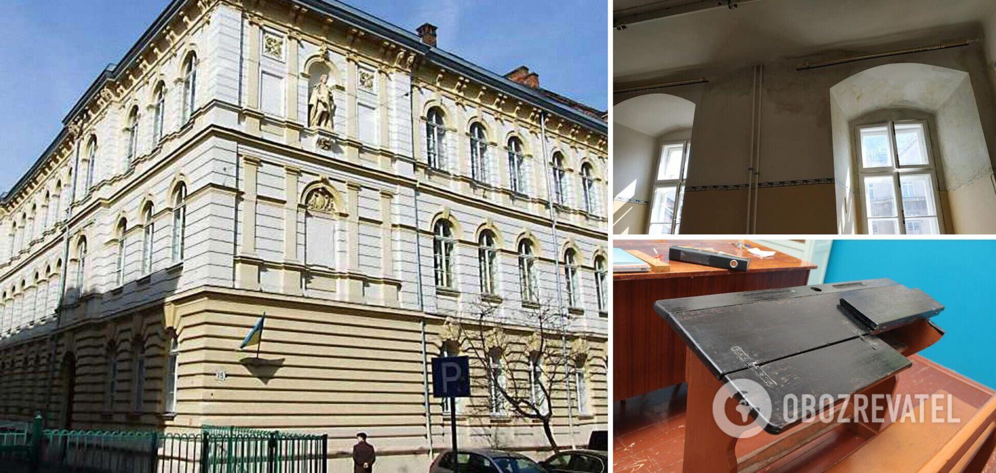 Прогнила підлога і грибок на стінах: у Львові п'ятикласників відправили вчитися в аварійному кабінеті