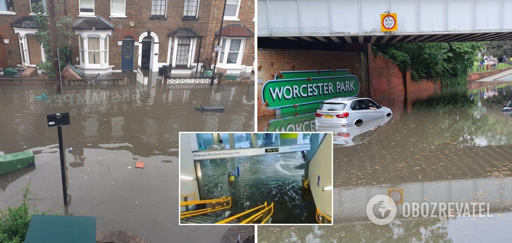 В Лондоне затопило метро и множество домов. Фото и видео непогоды