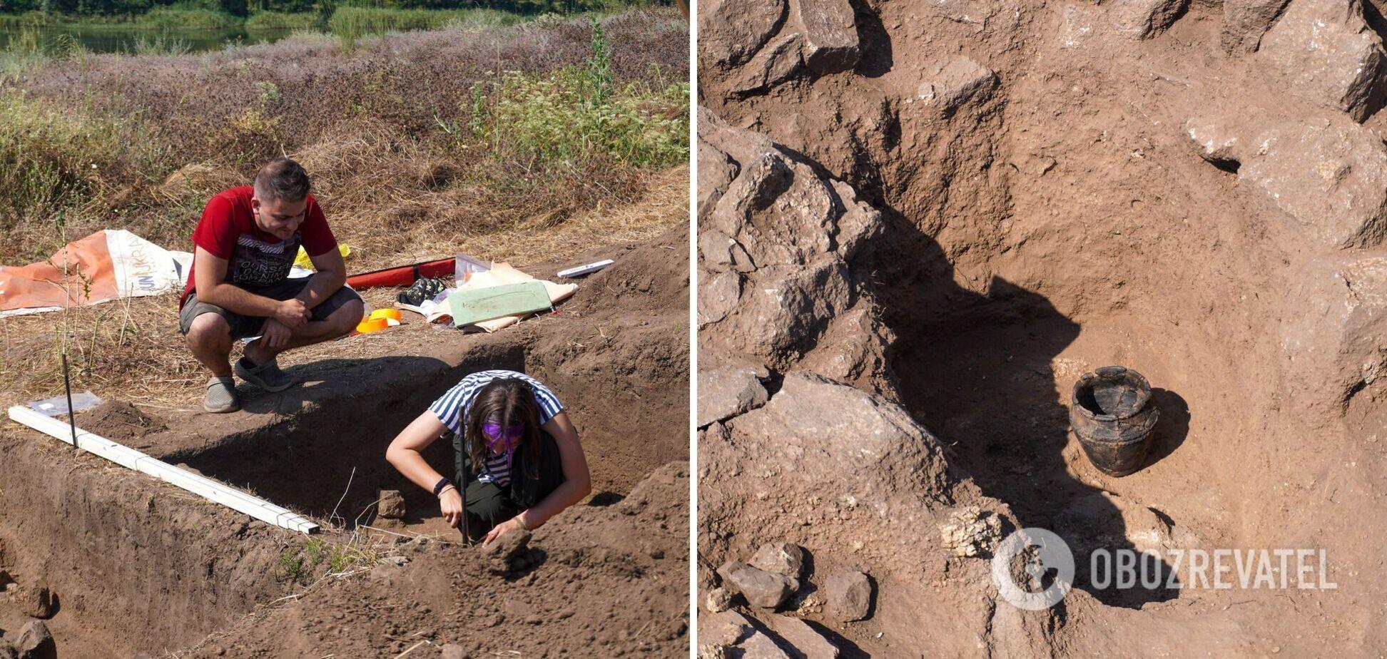 Археологи обнаружили на острове Хортица ритуальный горшок, которому более 3 500 лет. Фото