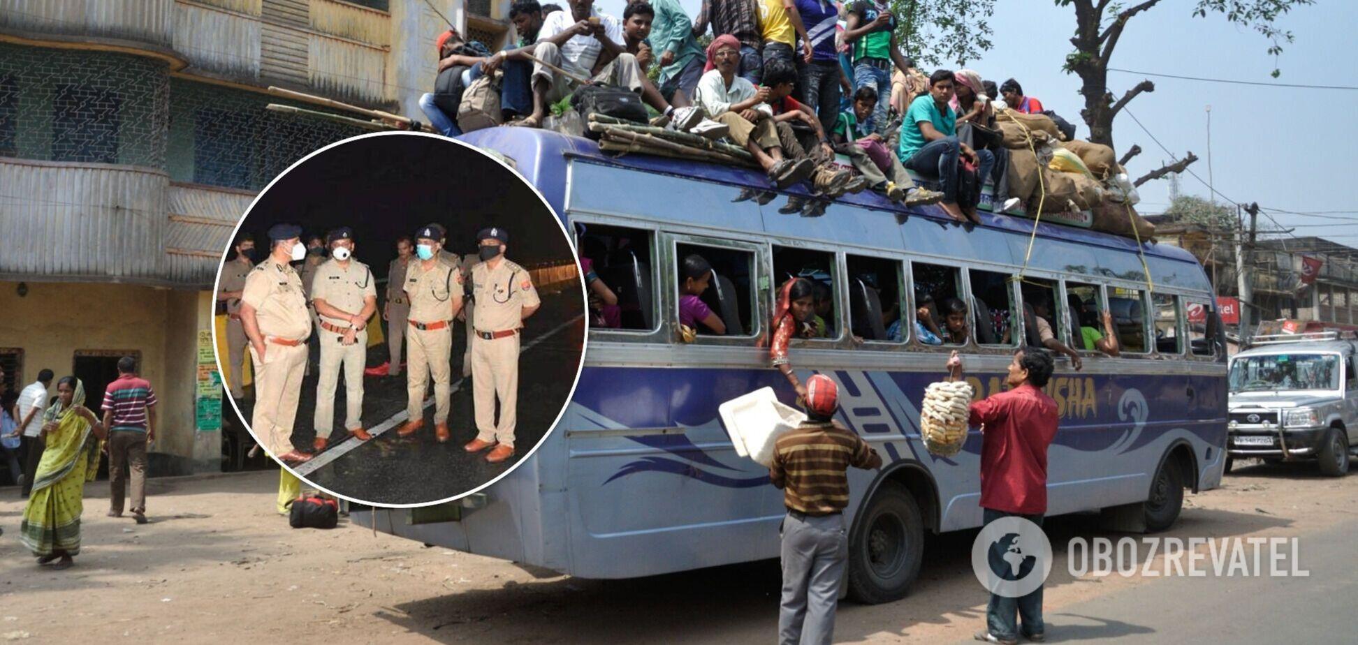 В Индии грузовик на скорости влетел в автобус с пассажирами, погибли 18 человек, много раненых