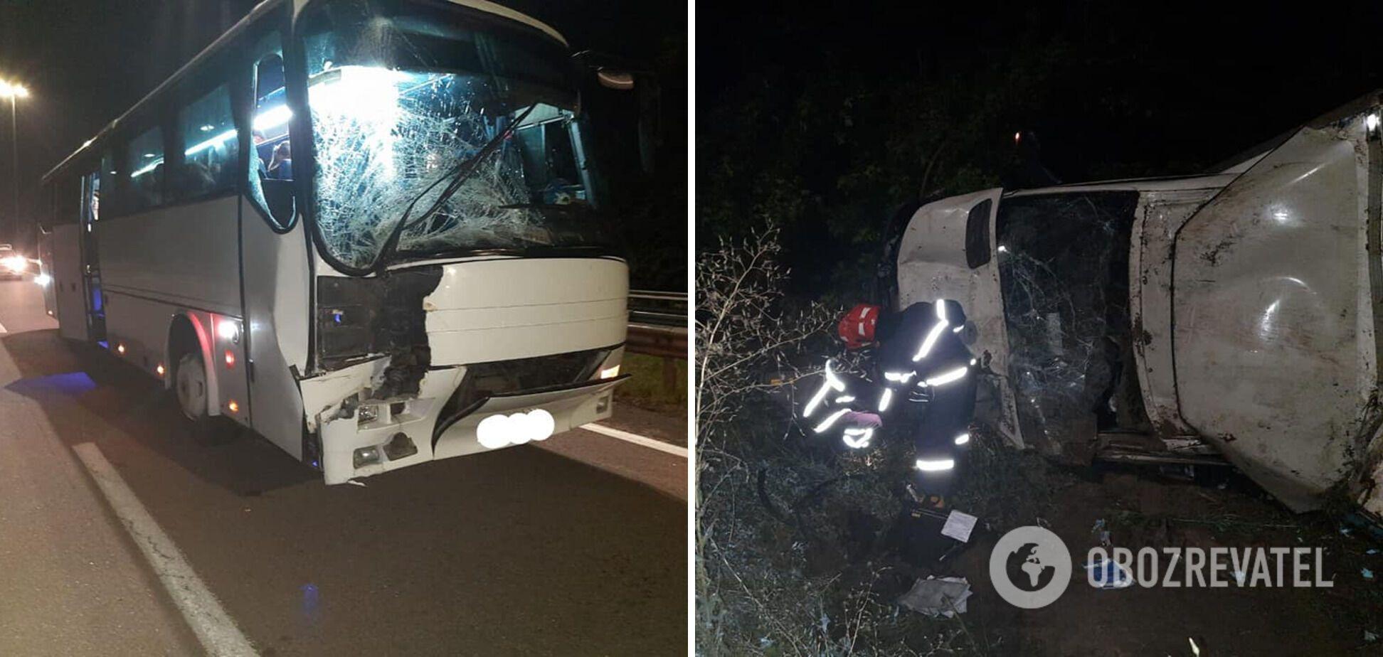 На трассе Киев – Чоп автобус с паломниками попал в ДТП: появились подробности и фото