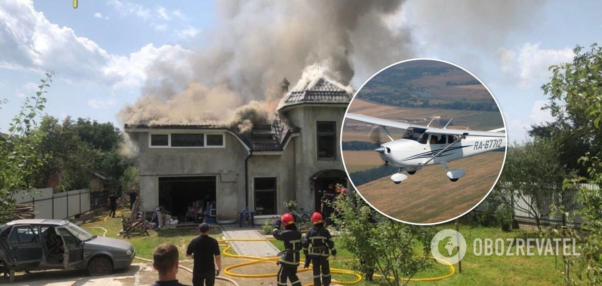 На Прикарпатье упал легкомоторный самолет, погибли 4 человека. Фото