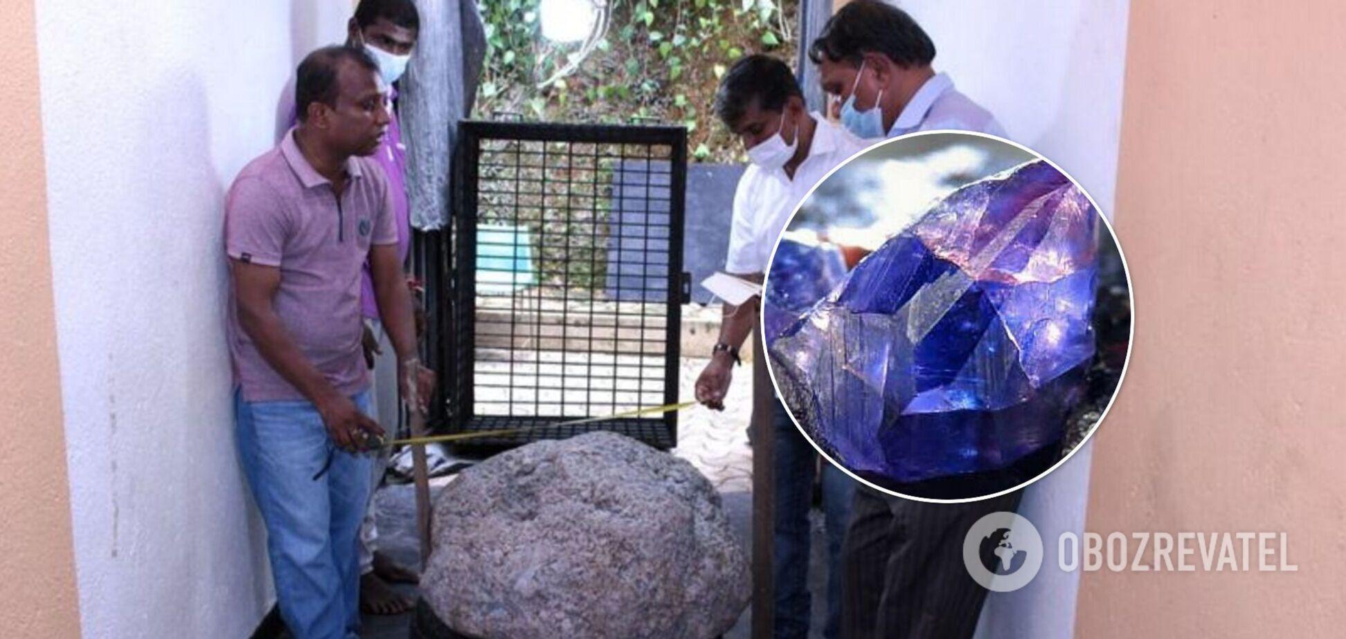 На Шрі-Ланці робітники випадково знайшли величезний сапфір вартістю $100 млн. Фото