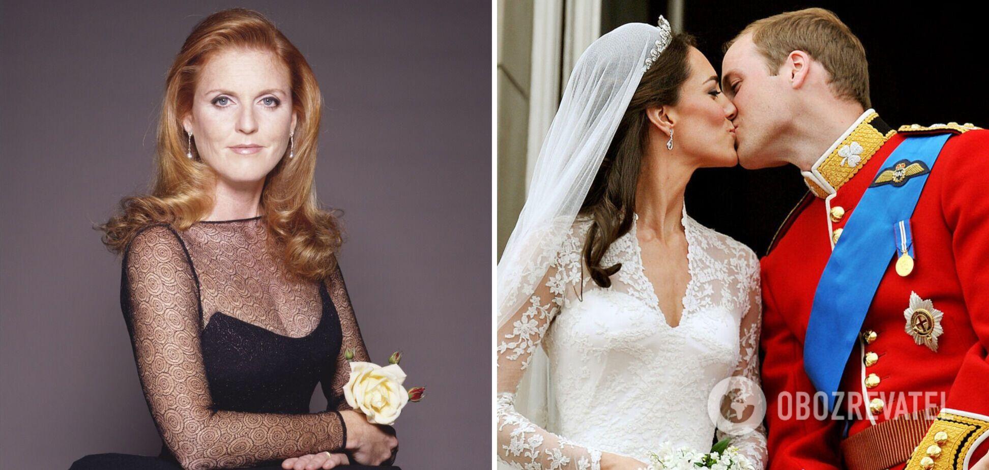 Экс-жена принца Эндрю вспомнила, как принц Уильям и Кейт Миддлтон не пригласили ее на свадьбу