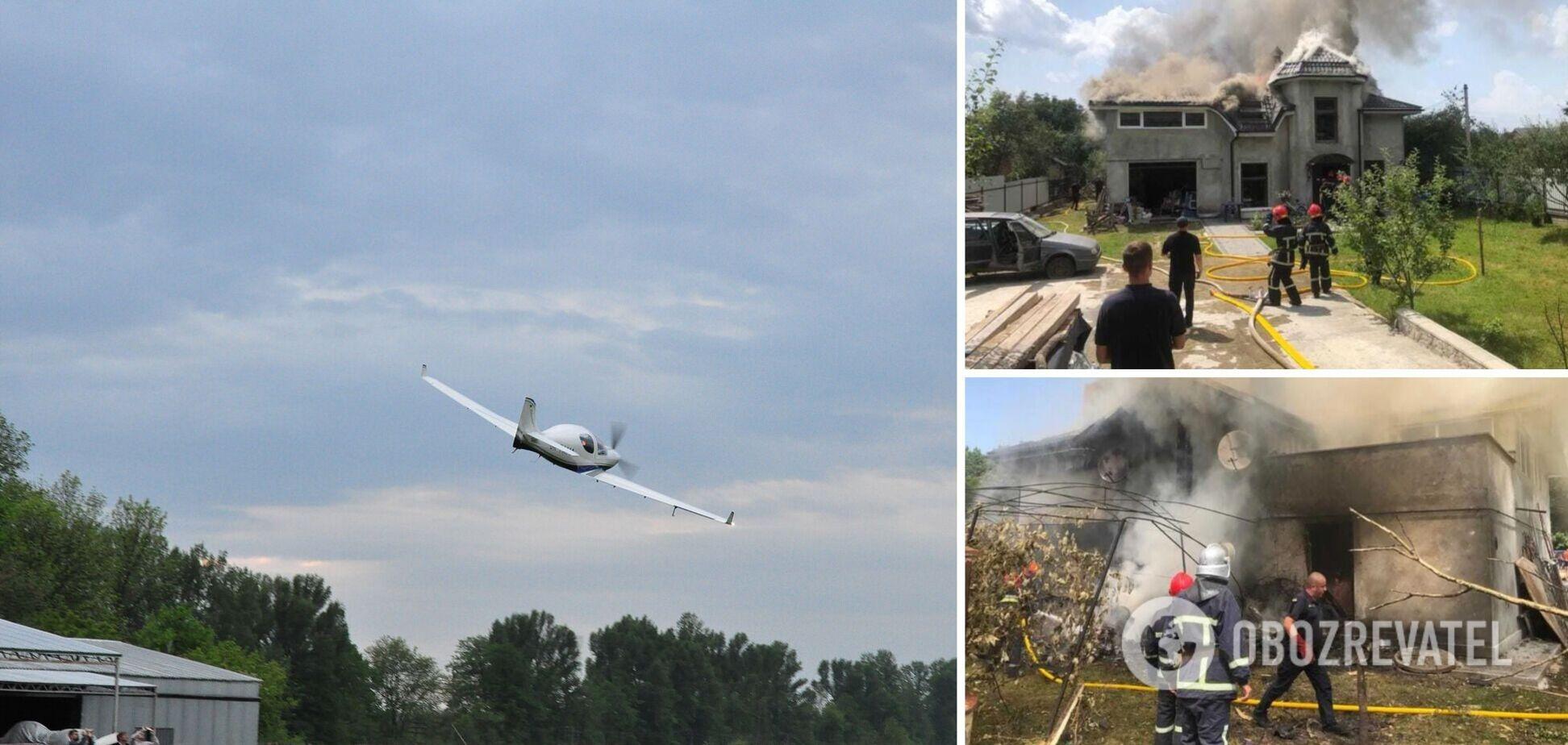 Авиакатастрофа на Прикарпатье: момент падения самолета попал на видео