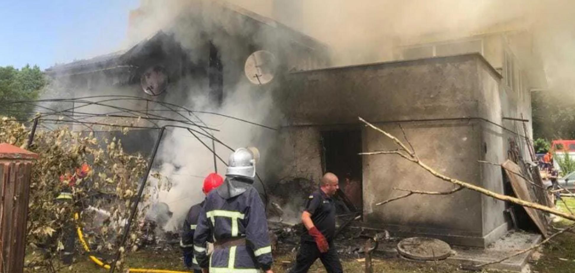 Момент падіння літака на Прикарпатті зняли на відео