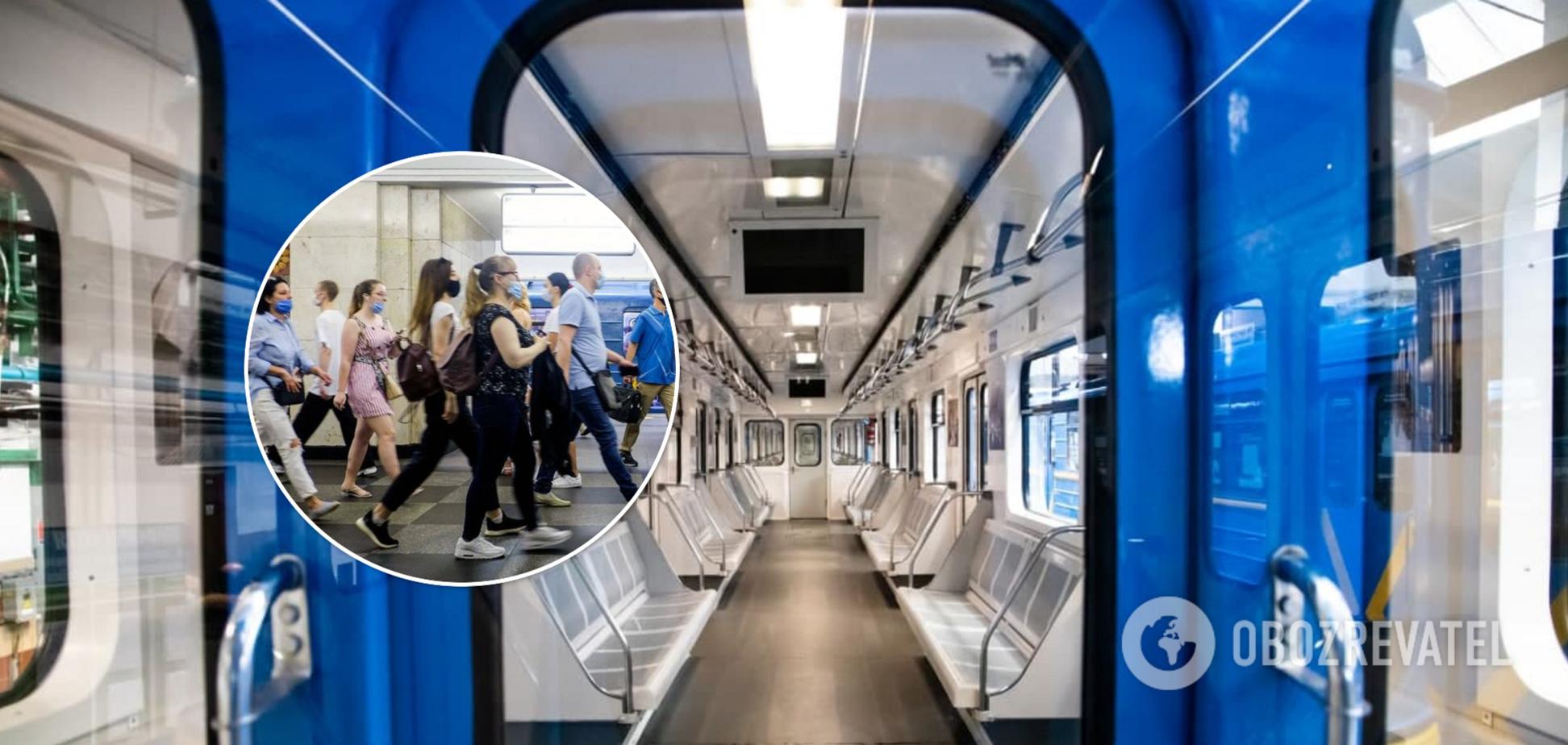 У київському метро пасажири влаштували бійку через маску. Відео 18+
