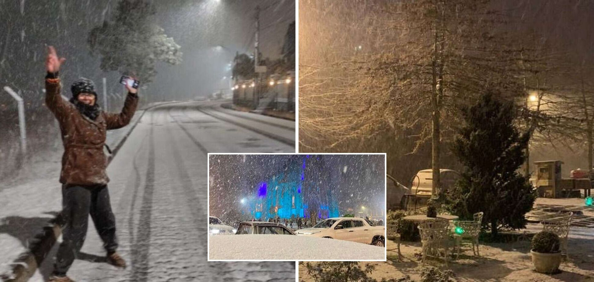 Бразилию засыпало снегом в июле, такого холода не было 65 лет. Фото и видео