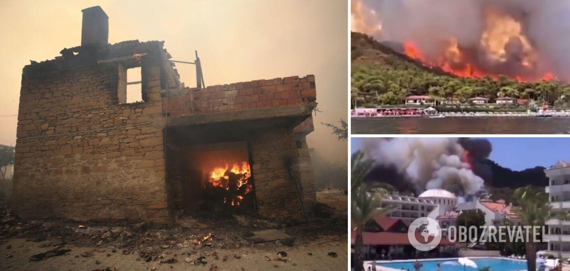 В Турции лесные пожары подошли вплотную к отелям: количество погибших возросло. Фото и видео