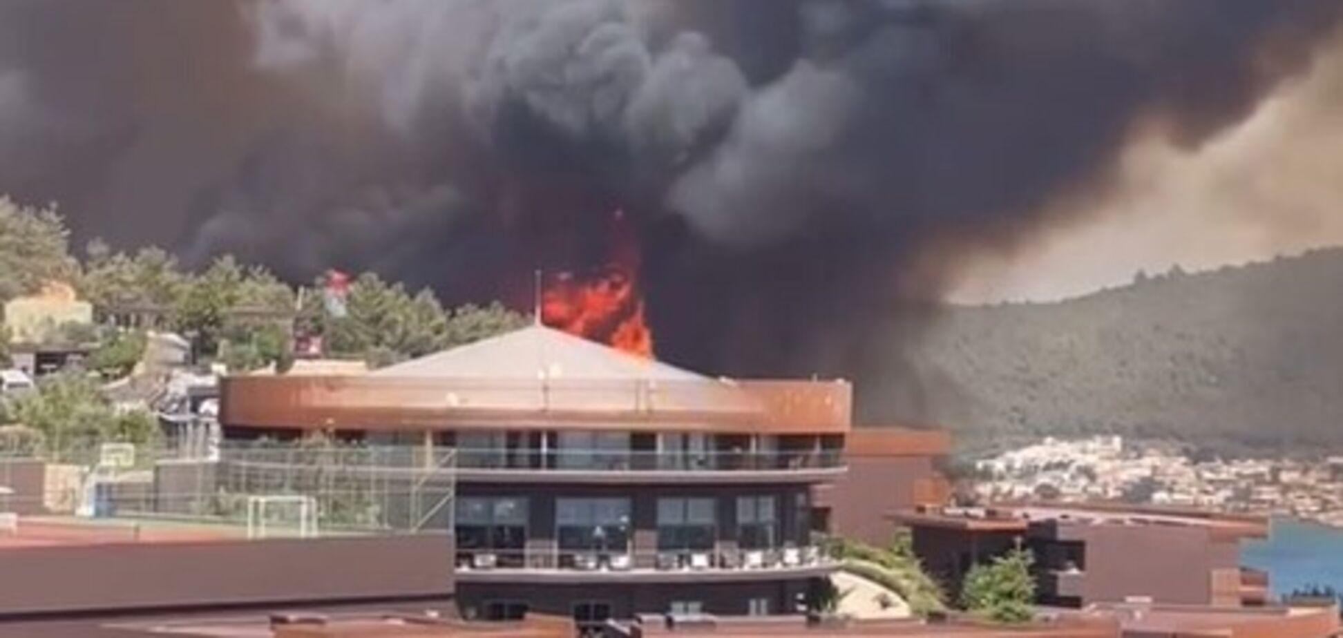 Новый лесной пожар в Турции