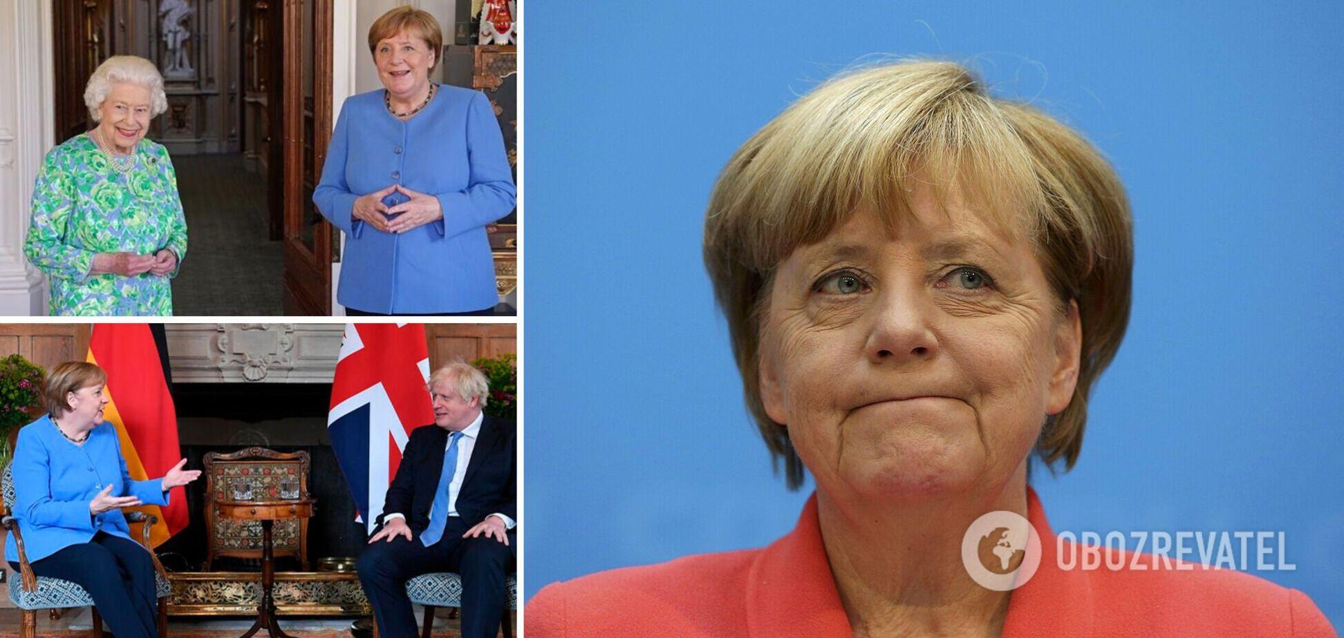 Меркель последний раз прибыла в Британию в качестве канцлера Германии: ее приняла королева Елизавета ІІ