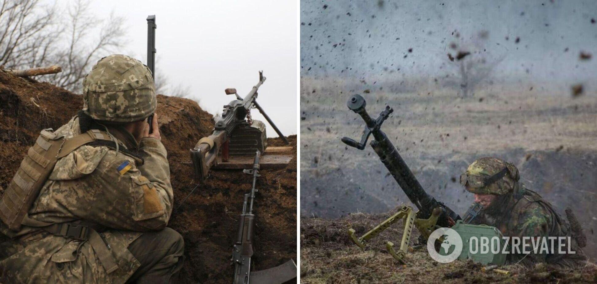 На Донбассе наемники РФ обстреляли позиции ВСУ из тяжелого вооружения