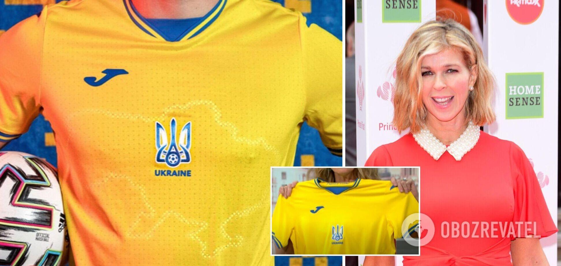 В Британии телеведущая сравнила карту Украины на форме сборной с 'грязным пятном'