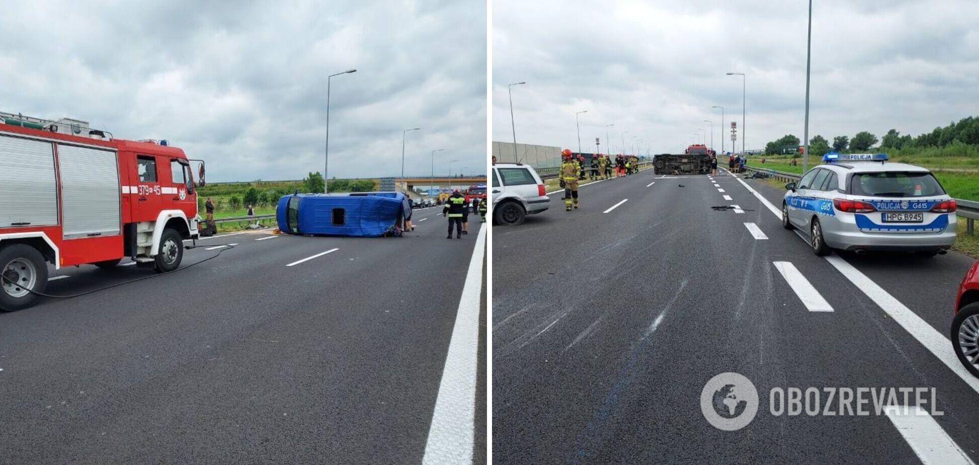 У Польщі в ДТП потрапив автобус із українцями: є постраждалі. Фото