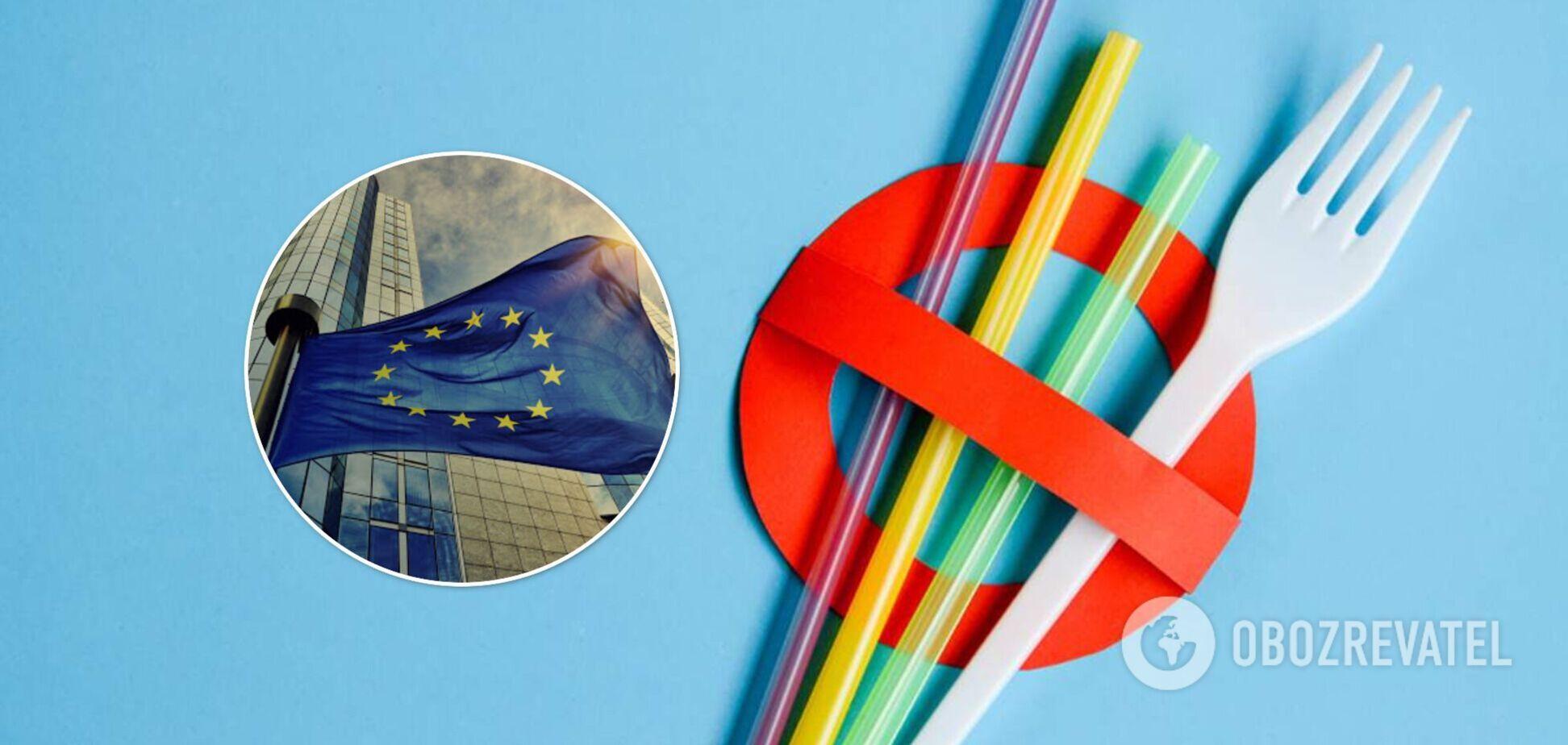 В ЕС полностью запретили пластиковую посуду и пакеты: как наследует Украина