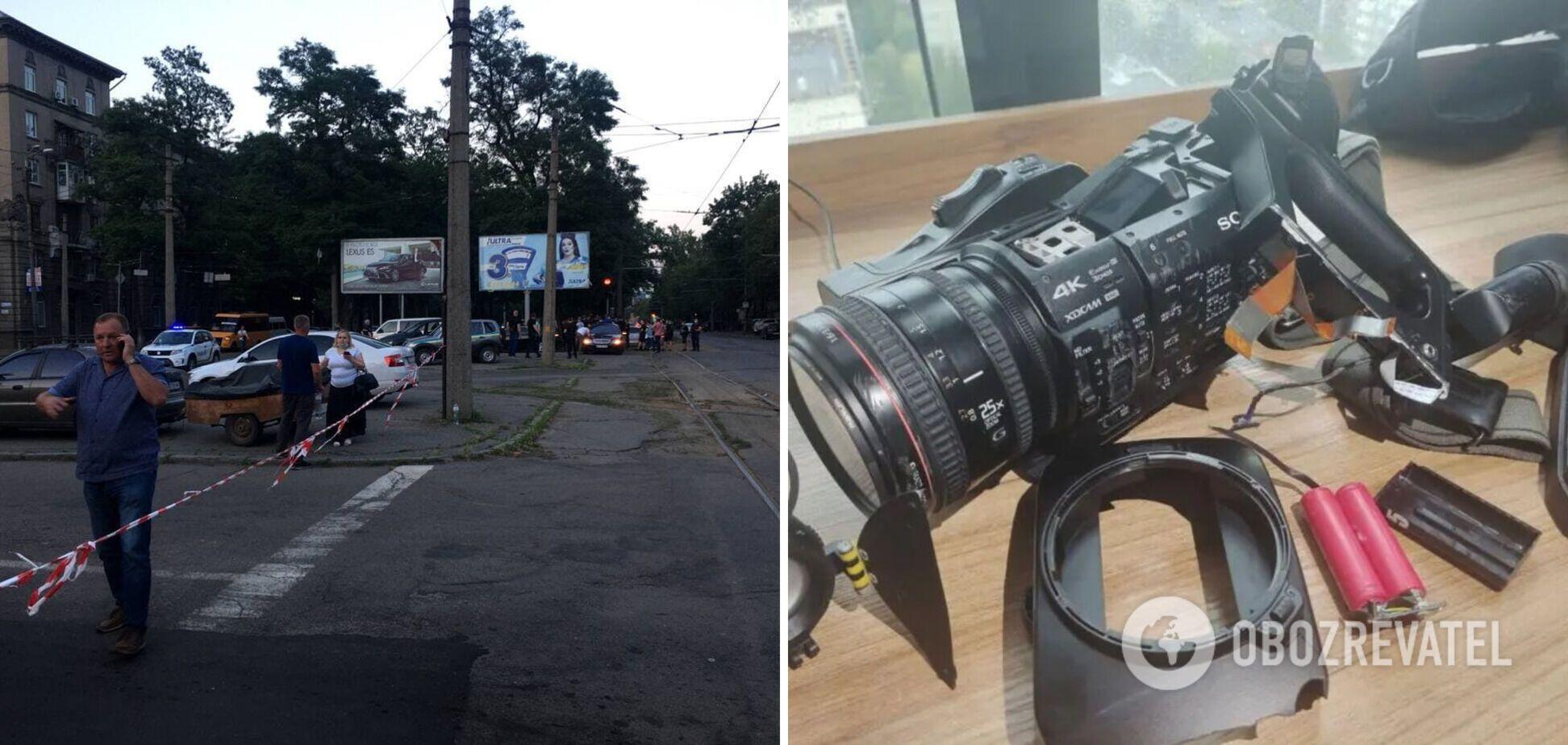 В Днепре атаковали журналистов, которые фиксировали демонтаж рекламных конструкций, – НСЖУ