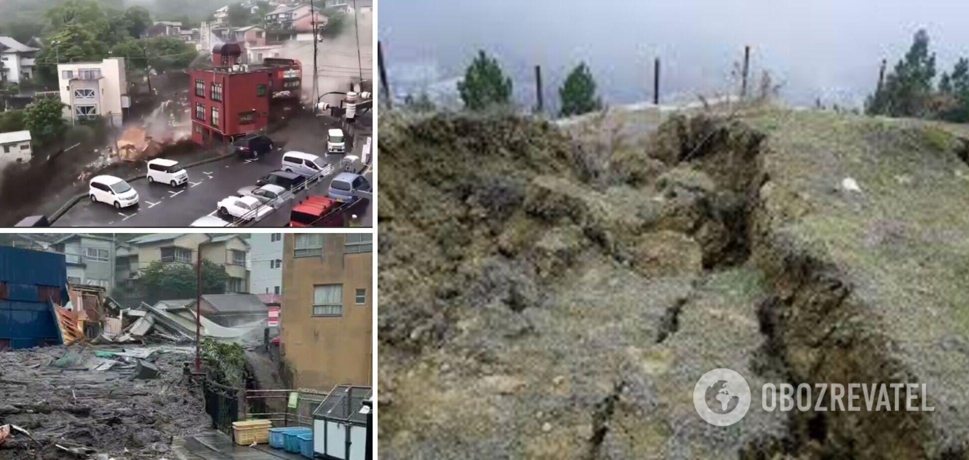 На місто в Японії зійшов зсув: безвісти зникли десятки людей. Відео
