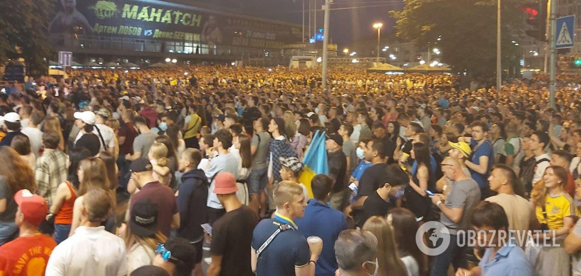 Гімн України перед матчем з Англією на Євро-2020