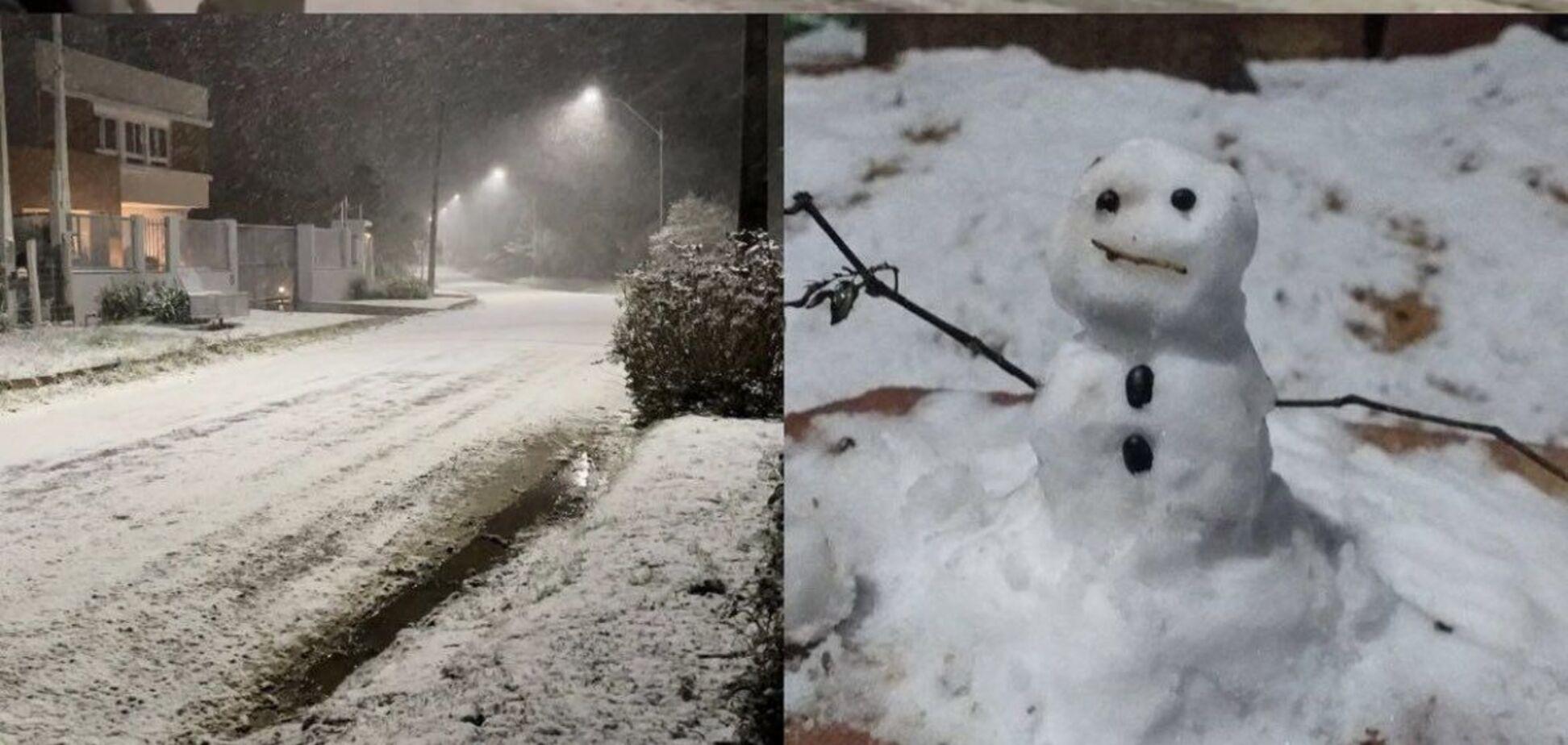 На півдні Бразилії випав сніг і вдарили морози