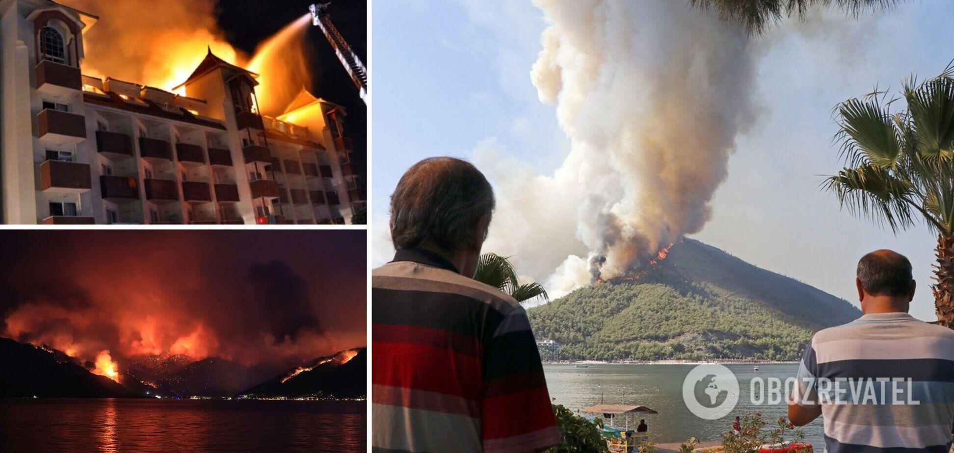Дороги плавилися, з гір на пляжі повалив дим: українці розповіли про відпочинок у Туреччині під час пожеж