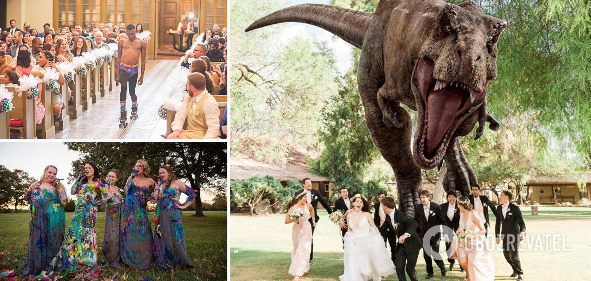 Фото со свадьбы стали популярными в сети