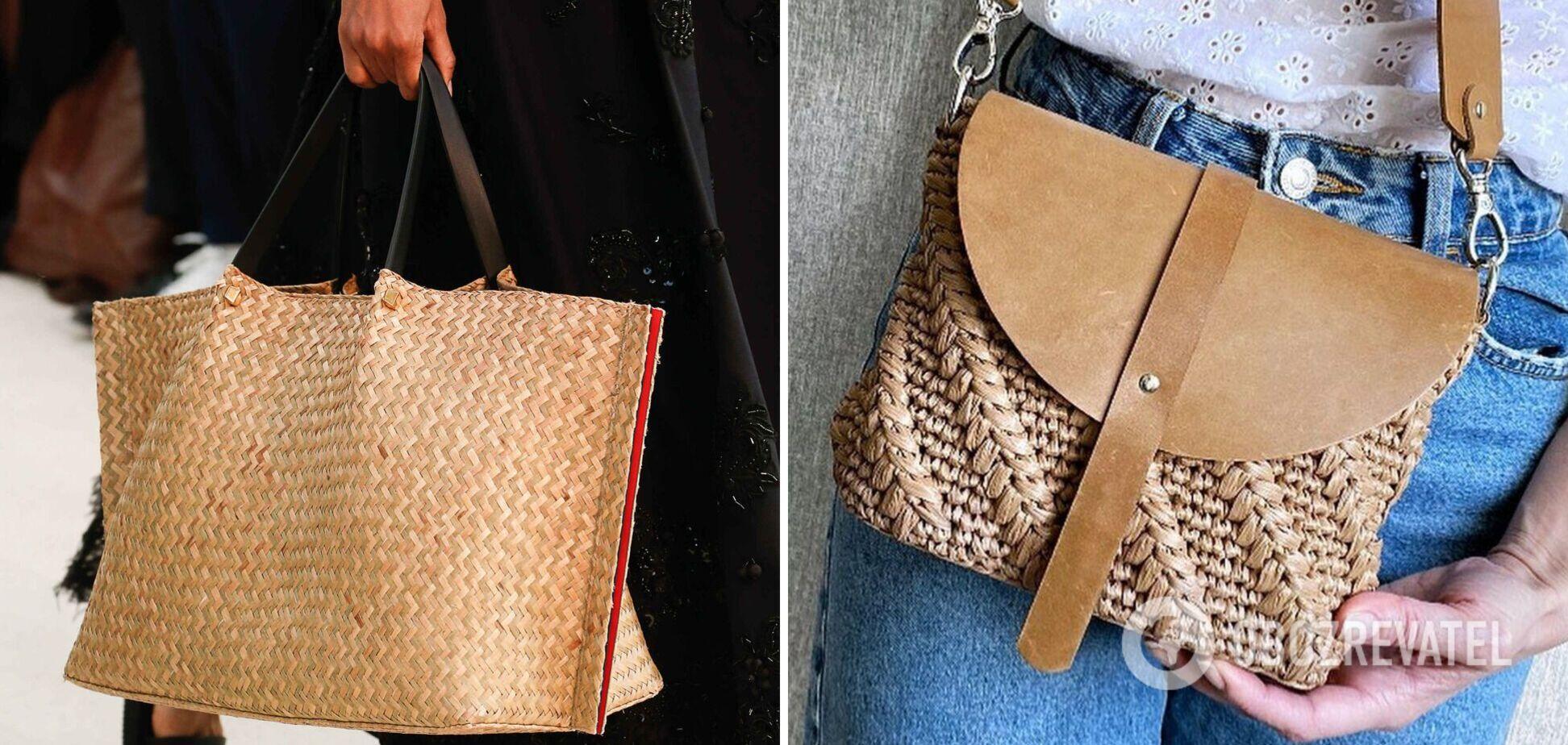 Плетеные сумки вошли в моду: как сделать аксессуар фишкой образа. Фото